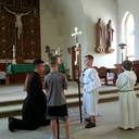 Fr. Daniel training new Alter Servers, July 19, 2018